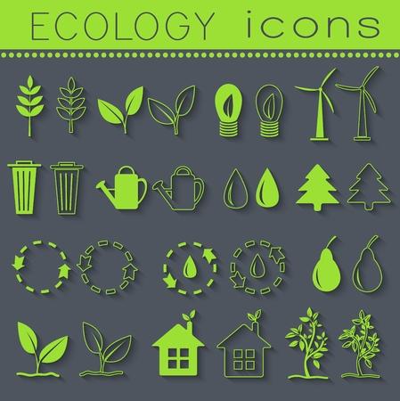 set eco icon on white background. Vector illustration design. Illustration
