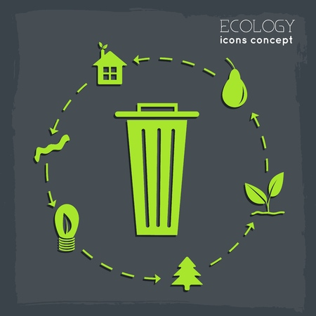 flat cycle eco infographic background concept. Vector illustration design.