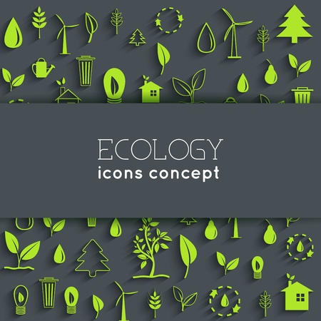 flat eco background concept. Vector illustration design. Ilustração