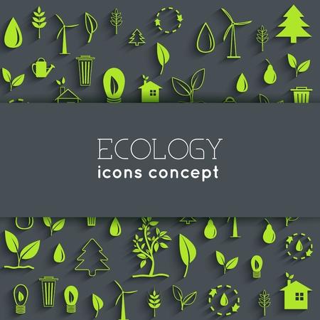 flat eco background concept. Vector illustration design. Illustration