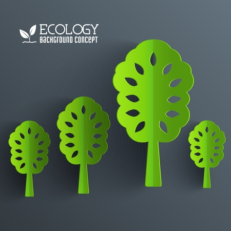 Green eco neture tree vector illustration background concept. Template web and mobile design.