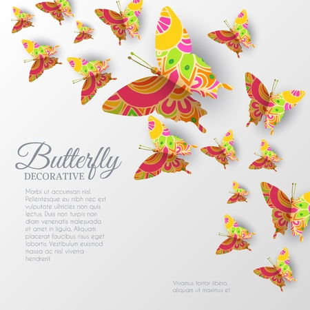 beautiful colorful butterfly background concept. Vector illustration template design.