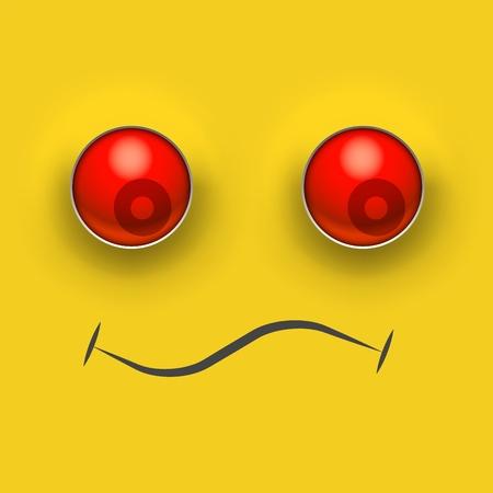 grumpy smile emotion. Vector illustration design Vetores