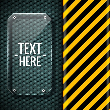 danger tech abstract background concept. Vector illustration design Illustration