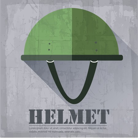 grunge military  helmet icon background concept. Vector illustration design