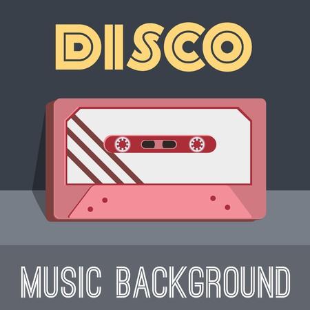 old cassette background concept. Vector illustration design.