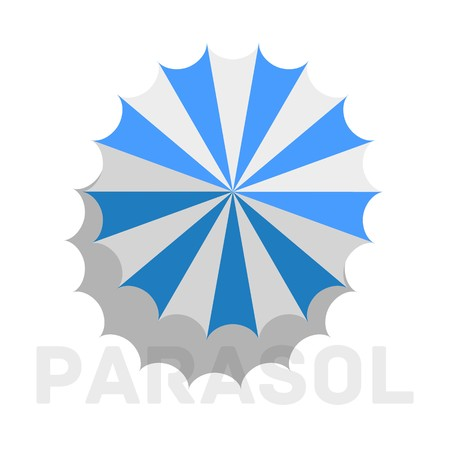retro flat parasol icon concept. vector illustration design.