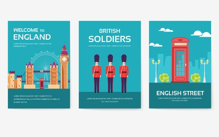 Set of England country ornament travel tour concept. London traditional, magazine, book, poster, abstract, element. Vector decorative ethnic greeting card or invitation design background