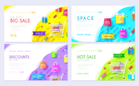 purchased in the shop information. Shopping brochure card set. Businesses for sale template of flyear, web banner, ui header, enter site. Layout invintation modern