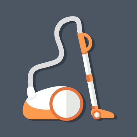 vacuum cleaner vector illustration symbol object. Flat icon style concept design.