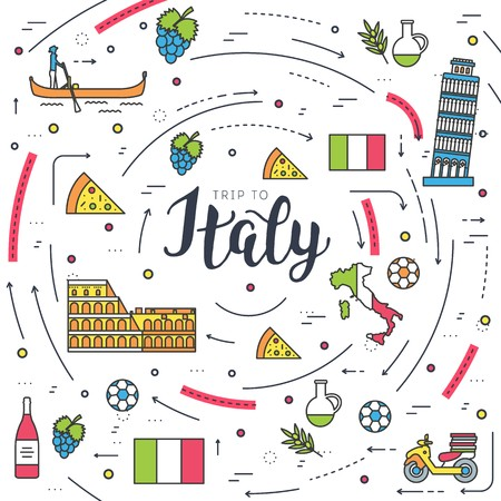 Country Italy travel vacation guide of goods, places and features