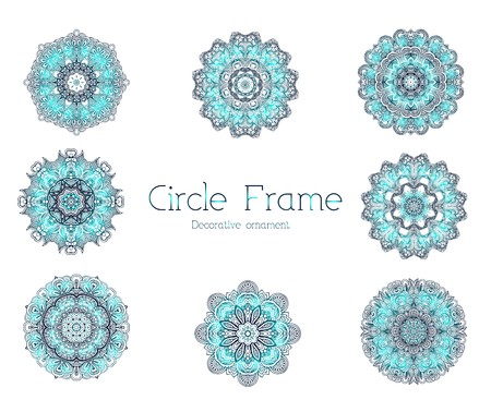 Hand drawn abstract background ornament frame illustration concept. Vector decorative retro banner of card or invitation design. Vintage traditional, Islam, arabic, indian, ottoman motifs