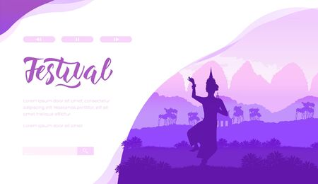 Indian festival vector landing page template