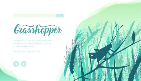 Grasshopper vector landing page template