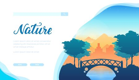 Nature vector landing page template