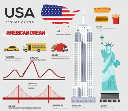 United States of America travel guide template.