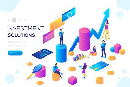 Analysis of sales, statistic grow Иллюстрация
