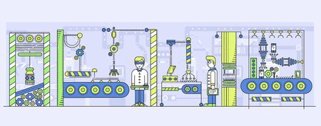 Conveyor automatic line vector illustration.