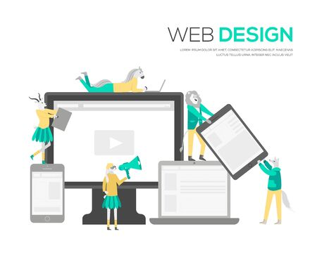 The web design structure and is the public