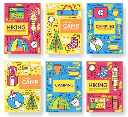 Camping equipment set circle
