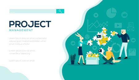 Project management consist usiness correspondence, reports, charts, segments and approval in social networks.