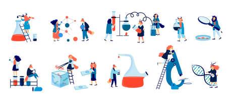 Biochemical science laboratory staff vector