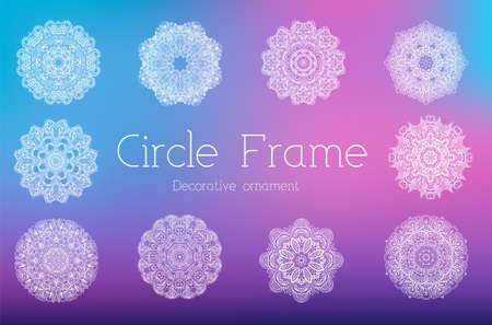 Hand drawn abstract background ornament frame illustration concept. Vector decorative retro banner of card or invitation design. Vintage traditional, Islam, arabic, indian, ottoman motifs, elements.