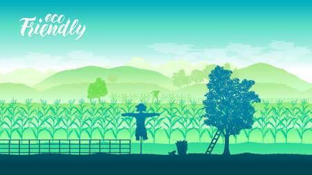 Farming life brochure card 스톡 콘텐츠