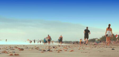 kuta: small stones on the beach kuta