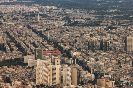 middle east conflict: Prewar view of Damascus, Syria Stock Photo