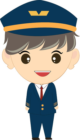 kiddies: cartoon illustration of a pilot