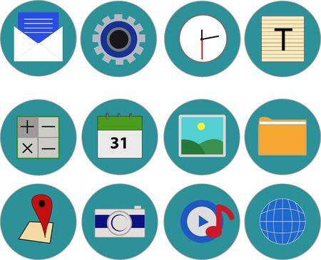 komunikacja: Media i komunikacja ikony