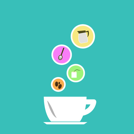 go to store: vector coffee icons Illustration