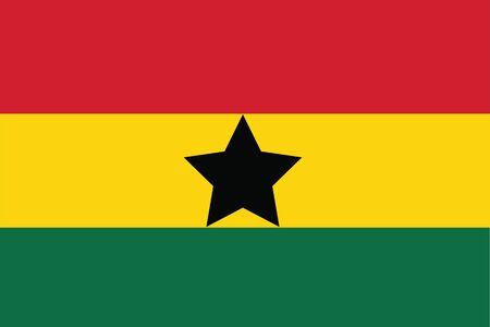 Ghana: Ghana Flag Illustration