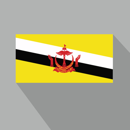 brunei darussalam: Brunei Darussalam Flag Illustration