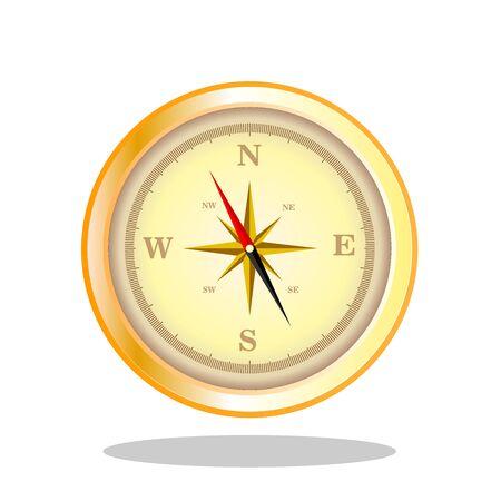 afbeelding kompas Stock Illustratie
