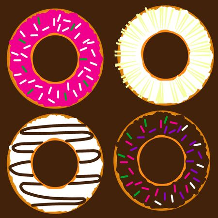 donuts Иллюстрация