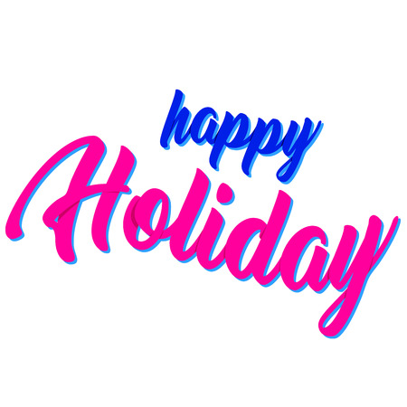 holiday: vector image happy holiday
