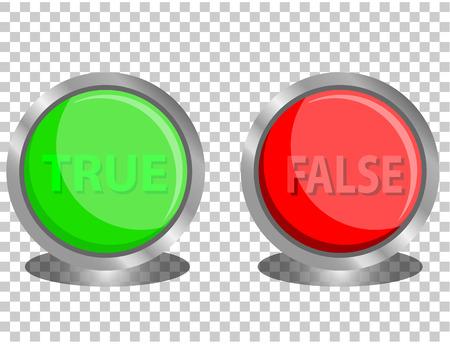 true: true and false button
