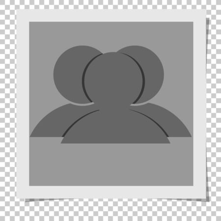 Vector image frame photo with transparent background