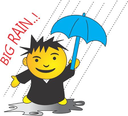 when we got bog rain use an umbrella
