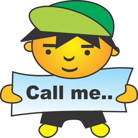 call me: call me Illustration