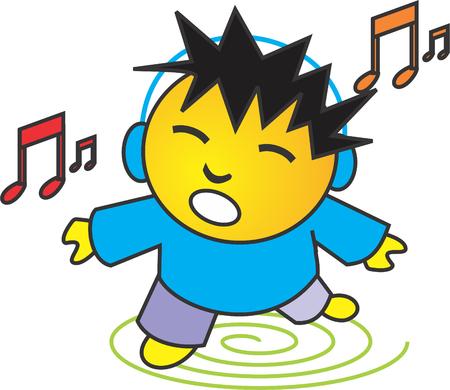 Die Musik hören Standard-Bild - 39239115