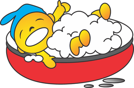 bath tub: on the bath tub Illustration