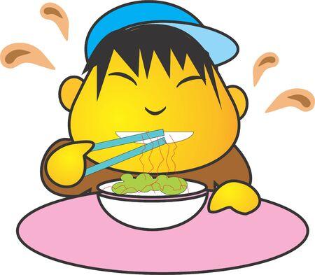 eat noodle