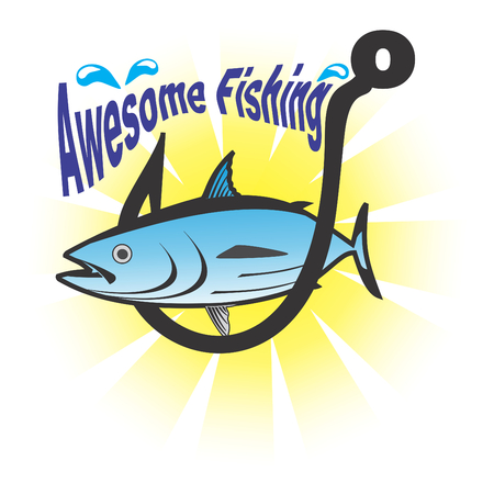 Awesome fishing Ilustrace