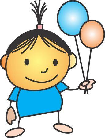 ballons: get ballons Illustration