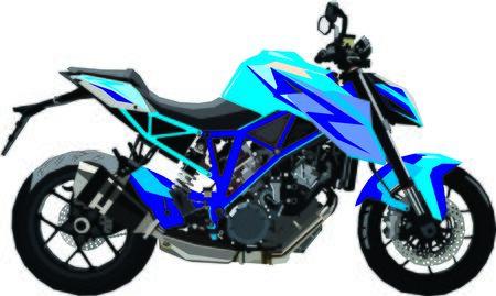Blue motor bike