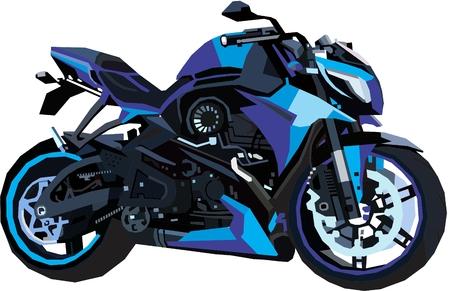 Blue streetfighter bike