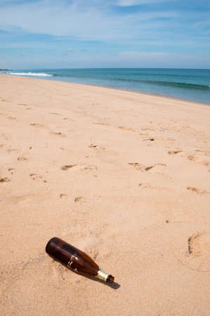 Bottle is garbage at beach, Phuket